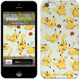 """Чехол на iPhone 5c Pikachu pokemon go """"3769c-23"""""""
