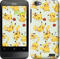 """Чехол на HTC One V t320e Pikachu pokemon go """"3769u-227"""""""