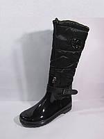 Модные женские резиновые сапоги на меху, фото 1