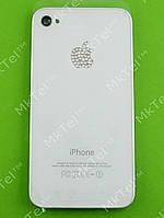 Крышка батареи iPhone 4G с белями камнями Копия Белый