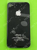 Крышка батареи iPhone 4G с белыми камнями Копия Черный