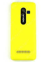 Крышка батареи Nokia Asha 206 Оригинал Желтый