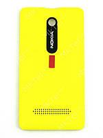 Крышка батареи Nokia Asha 210 Dual SIM Оригинал Желтый