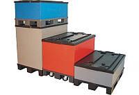 Складской разборный пластиковый контейнер PolyBox