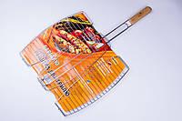 Решетка-гриль,для мангала,барбекю,для рыбы Stenson 65×40×36 см №0089, фото 1