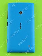 Крышка батареи Nokia Lumia 520 с боковыми кнопками Оригинал Голубой