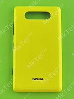 Крышка батареи Nokia Lumia 820 Оригинал Желтый глянцевый
