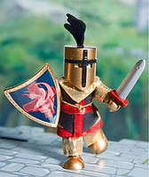 Budkins Сэр Слиток Золотой рыцарь куклы из дерева и текстиля