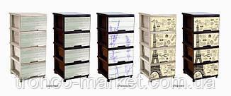 """Комод на 4 ящика с декором """"Дерево"""" коричневый Алеана, фото 2"""