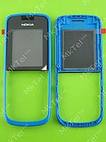 Передняя панель Nokia 109 Оригинал Голубой