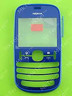 Передняя панель Nokia Asha 201 Оригинал Синий