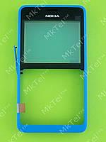 Передняя панель Nokia Asha 210 Dual SIM Оригинал Синий