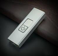 Електрична запальничка з дуговим підпал в металевому корпусі у вигляді USB флешки СРІБЛЯСТА SKU0000603, фото 1