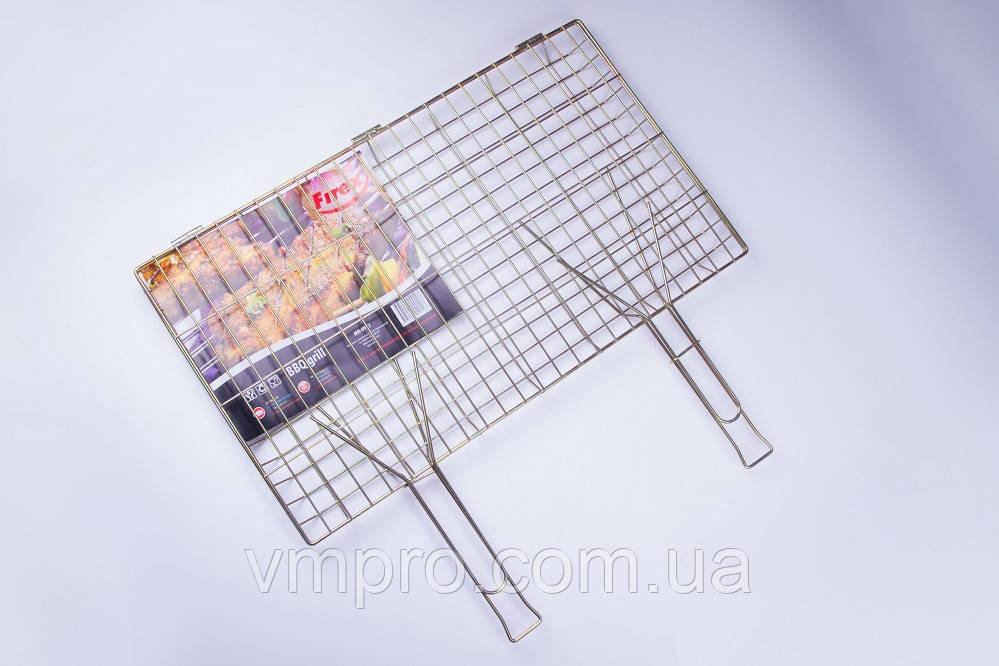 Решетка-гриль,для мангала,барбекю,Firex большая,две ручки,55×60×35×3 см