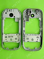 Средняя часть Nokia 7230 в сборе Оригинал Серебрист.