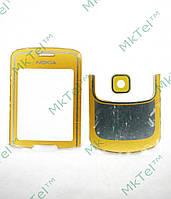 Стекло передней панели Nokia 8600 Luna, комплект, золотистый orig-china