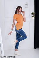 Женская блузка-туника Подіум Jucca 12377-ORANGE S Оранжевый