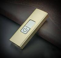 Зажигалка электрическая с дуговым поджигом в металлическом корпусе в виде USB флэшки ЗОЛОТИСТАЯ SKU0000604