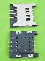 Коннектор SIM карты Samsung Galaxy Y Duos S6102 Оригинал
