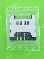 Коннектор SIM карты Samsung S3850 Corby 2 Оригинал
