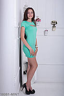 Плаття міні Подіум Жіноче плаття Подіум Valery 18081-MINT XS Бірюзовий