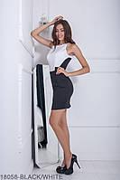 Женское платье Подіум Silvia 18058-BLACK/WHITE XS Черный