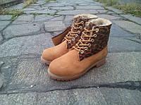 Изумительные ботинки Timberland 6 inch Winter Fur женские. (тимберленд 6 инч мех) темно-грушевый