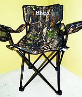 Стул раскладной со спинкой Дубок кресло рыбацкое
