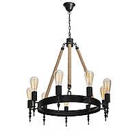 Подвесной светильник (Люстра) [ LOFT castle ] (10 Lamp Edisons)