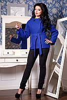 Короткое пальто большого размера с потайной застежкой