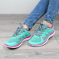 Кроссовки женские Nike Free Run 4.0 мятные, спортивная обувь