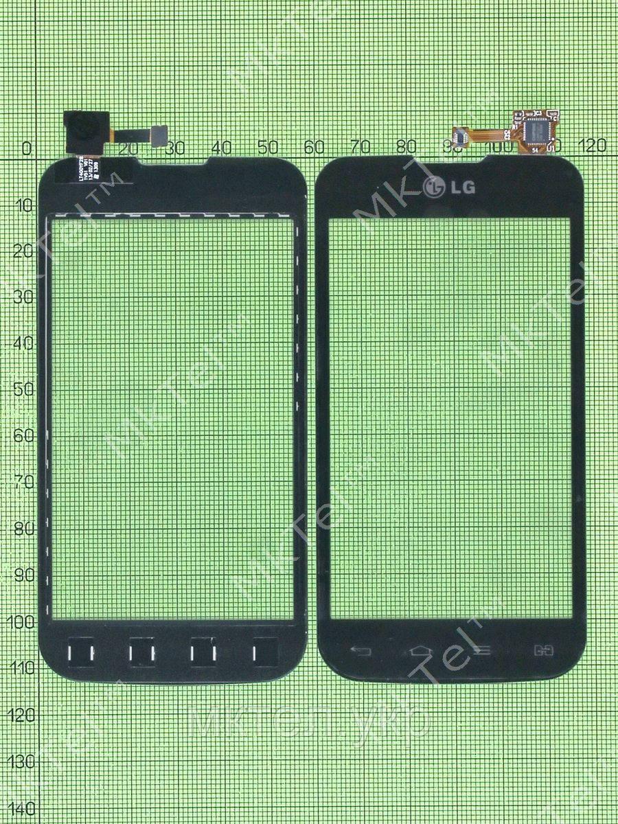 Сенсор LG Optimus L5 II Dual E455, черный copyAA