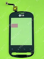Сенсорный экран LG Optimus Me P350 Копия АА Черный