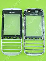 Сенсорный экран Nokia Asha 300 с панелью Оригинал элем. Серебристый