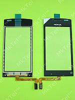 Сенсорный экран Nokia Asha 500 Dual SIM Копия А Черный