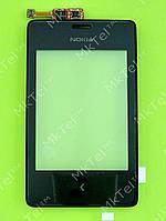 Сенсорный экран Nokia Asha 502 Dual SIM с панелью Оригинал Черный