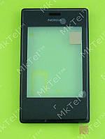Сенсорный экран Nokia Asha 503 Dual SIM с панелью Оригинал Черный