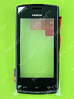Сенсор Nokia Asha 500 Dual SIM с панелью Оригинал Черный