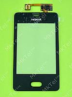 Сенсор Nokia Asha 501 Dual SIM Копия АА Черный