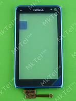 Сенсор Nokia N8 с панелью Оригинал Голубой