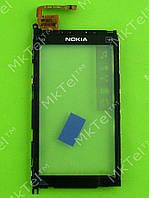 Сенсор Nokia X6-00 с рамкой Оригинал Китай Черный