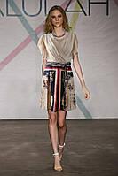 Платье GUCCI в кремовых тонах под поясок OB90056