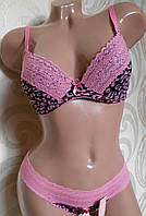 Комплект Lemila Leo 801-1 розовый. Бюст 70А / трусики S