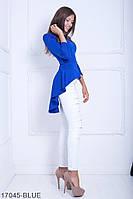 Женская блузка-туника Подіум Harmony 17045-BLUE S Синий