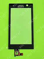 Сенсорный экран Sony Xperia U ST25 Оригинал элем. Черный