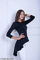 Женская блузка-туника Подіум Harmony 17045-BLACK S Черный