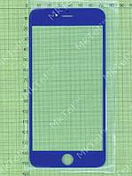 Стекло сенсорного экрана iPhone 6 plus Копия АА Синий