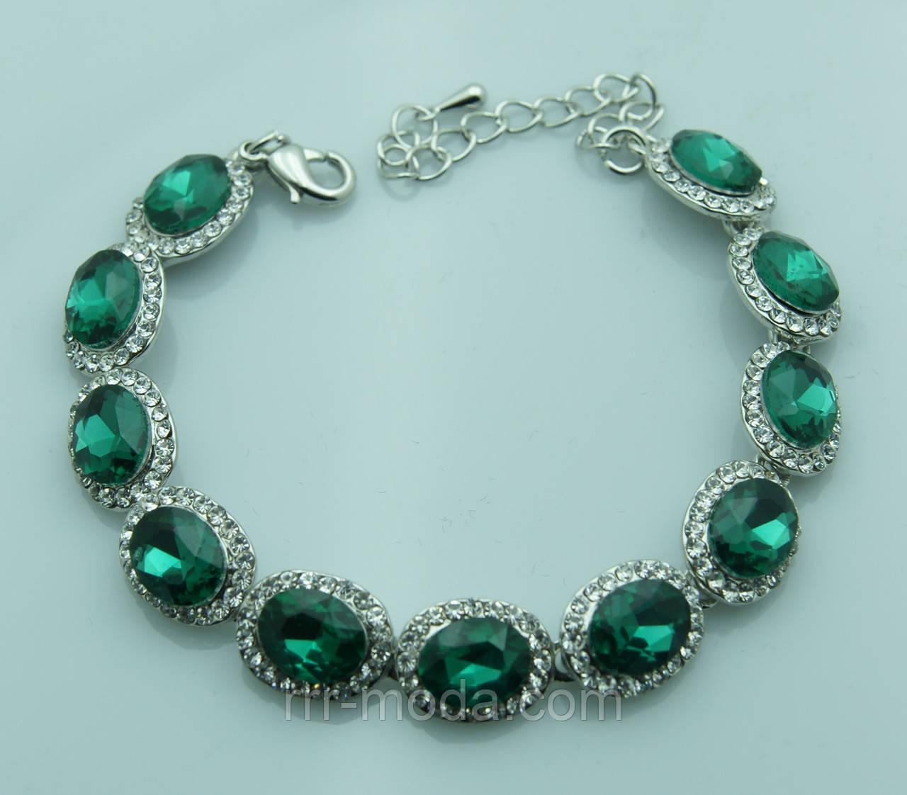 1066. Браслеты с зелеными кристаллами от RRR