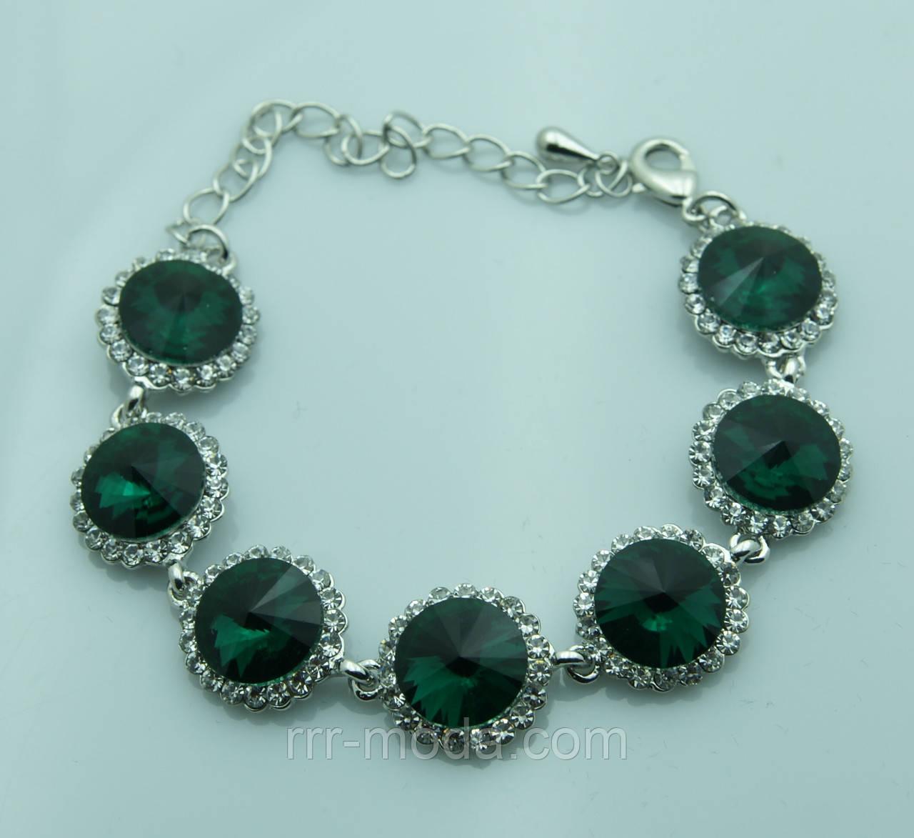 1067. Браслеты из зеленых кристаллов от RRR