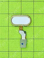 Шлейф кнопки Home Meizu M3s с кнопкой Оригинал Китай Золотистый